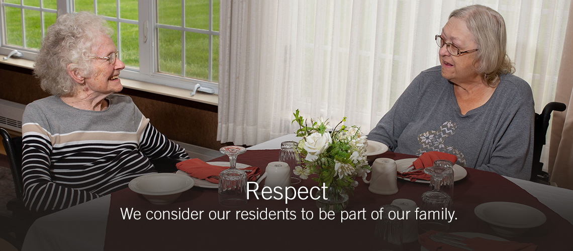 Our values respect slider