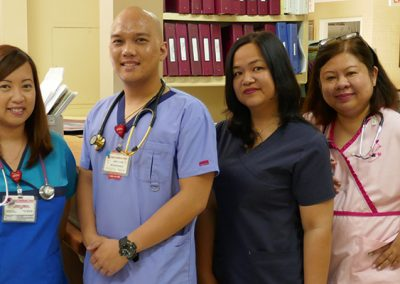Sub-acute staff members standing together