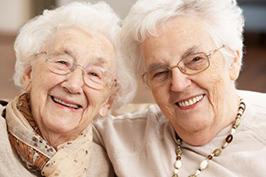 2 female elderly friends