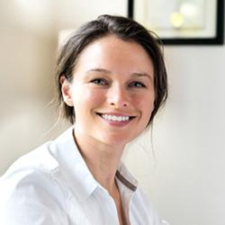female medical professional smiling