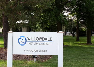 The front entrance to Willowdale's facility