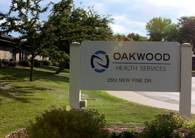 Oakwood front sign