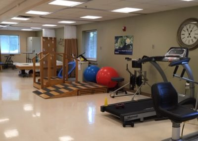A fitness room