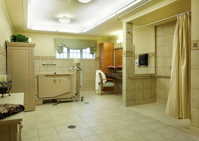 Bathing room for residents