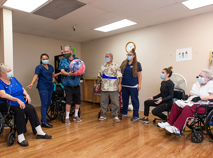 residents performing therapy together