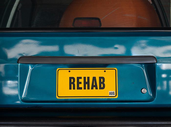 rehab license plate