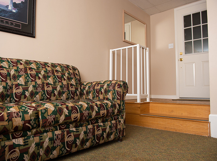 couch in living room of facility