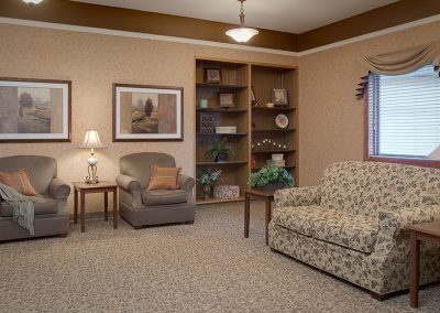 Lounge area for residents