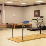 Fitness room for residents
