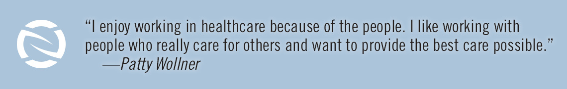 Quote from an employee about how wonderful it is to work in healthcare