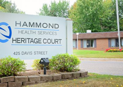 Hammond front sign