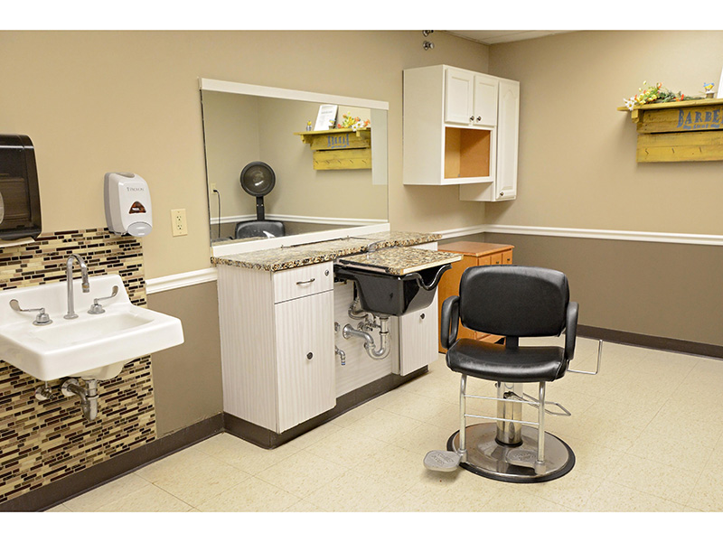 Very clean resident salon.