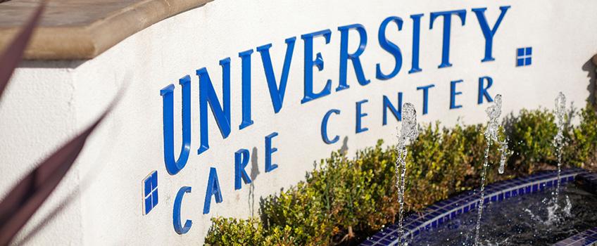 university care center signage