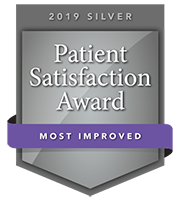 2019 Silver Patient Satisfaction Award for Most Improved