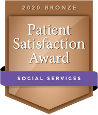 2020 Bronze Patient Satisfaction Award for Social Services