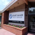 Court manor sign