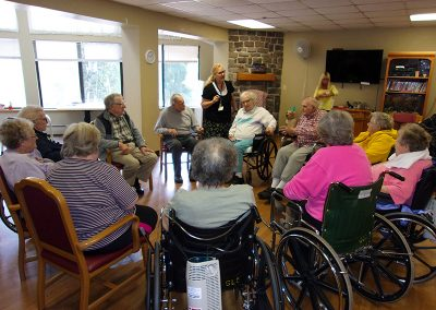 Residents enjoying an activity