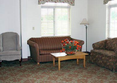 Sitting area for residents