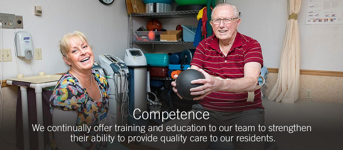 Competence slider