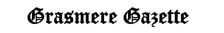 Grasmere Gazette banner