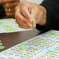 Woman playing bingo