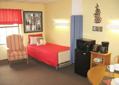 Transitional Rehab suite to assist residents in getting back home.