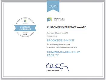Pinnacle Customer Experience Award 2019 for Communication from facility
