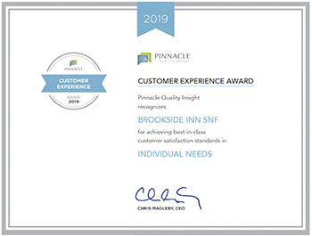 Customer Experience Award for Individual needs