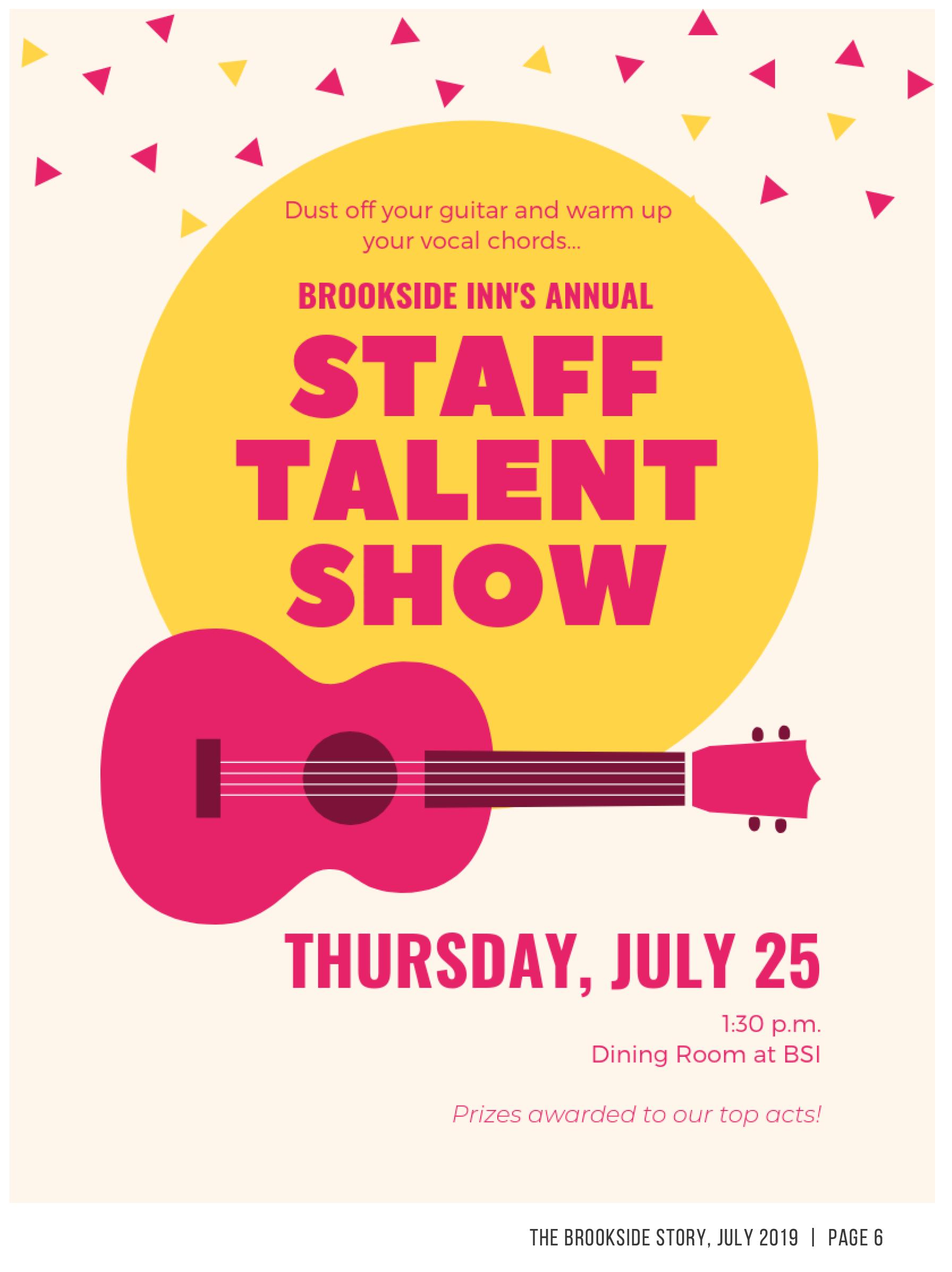 July 25 2019 Staff Talent Show