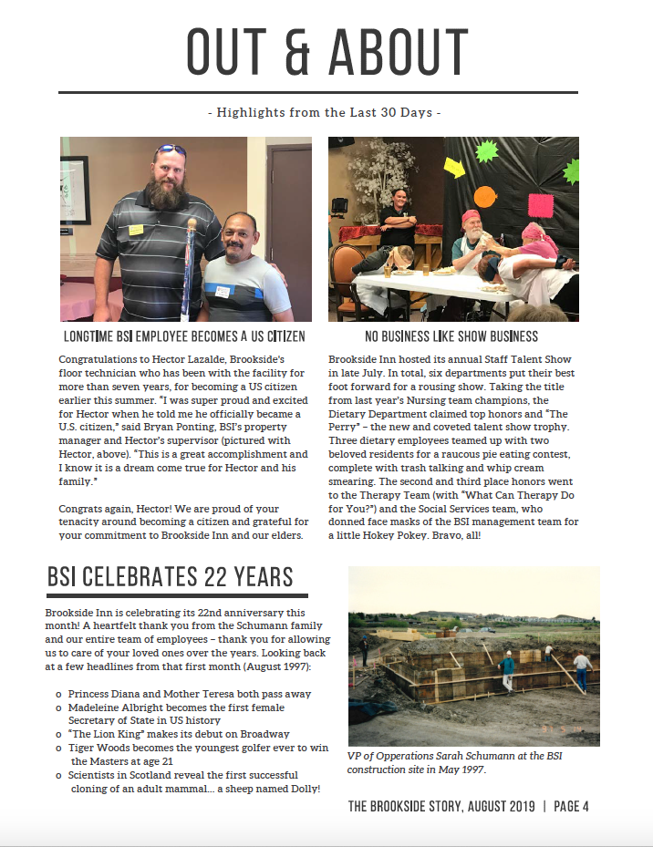 Brookside Inn August Newsletter Page 4