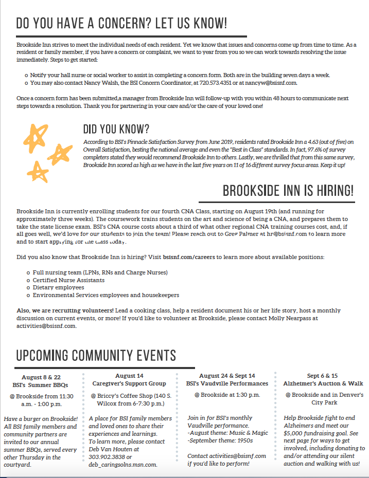 Brookside Inn August Newsletter Page 6