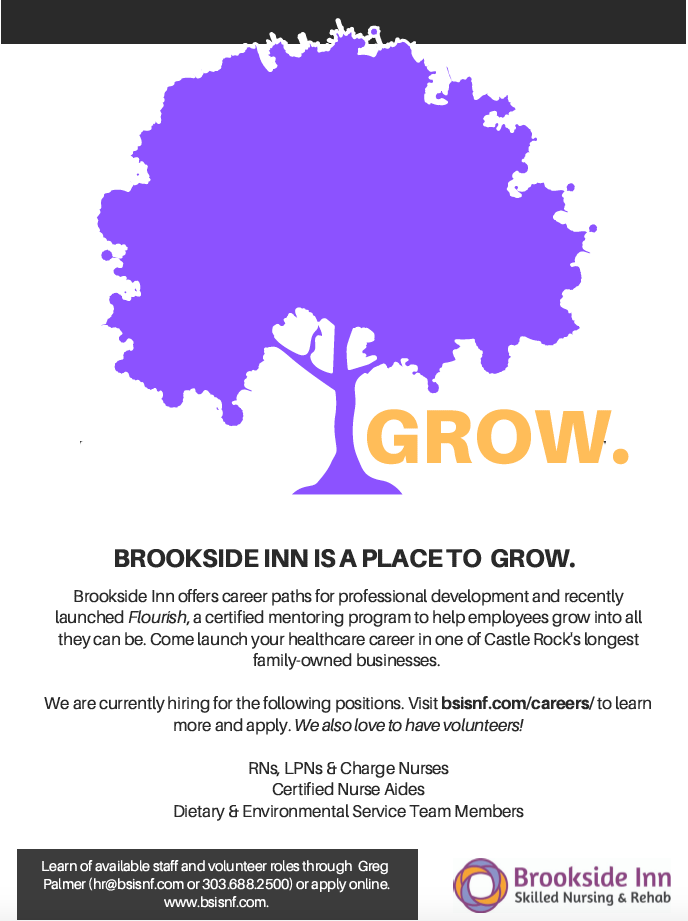 Serve Brookside Inn is a place to serve. We employ licensed nurses, nurse aides, housekeeping, laundry, and dietary professionals. Apply online today.