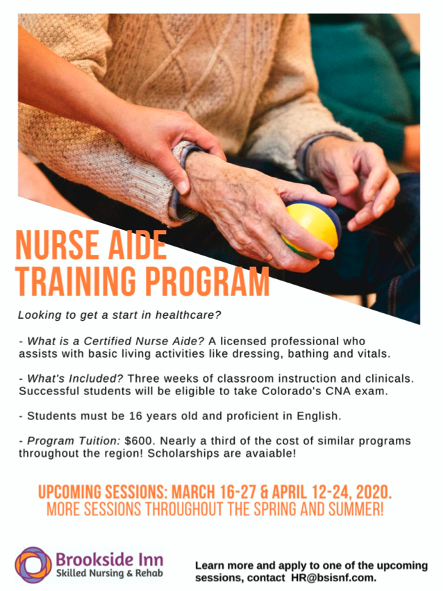 Upcoming Nurse Training session starts on March 16 through the 27 and April 12 through the 24