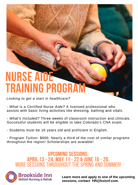 Nurse Aide Training Program June 15 26.