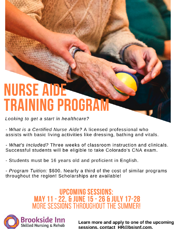 Nurse Aide Training Program Starting July 17th. Call Us Today!