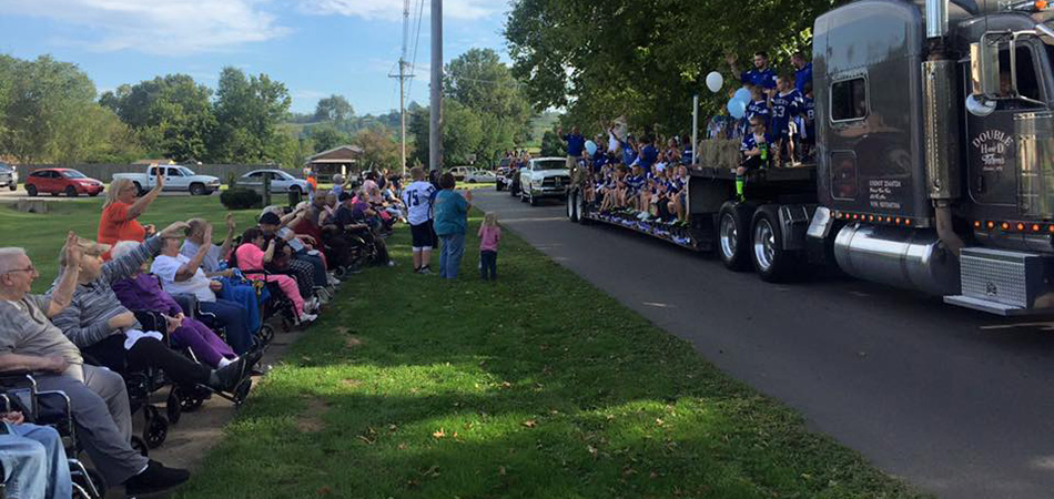 Parade for the residents