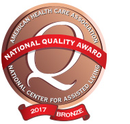 AHCA Bronze National Quality Award Winner for 2017