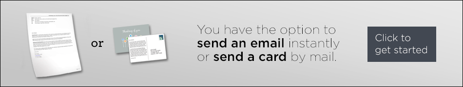 Send a greeting email or postcard button