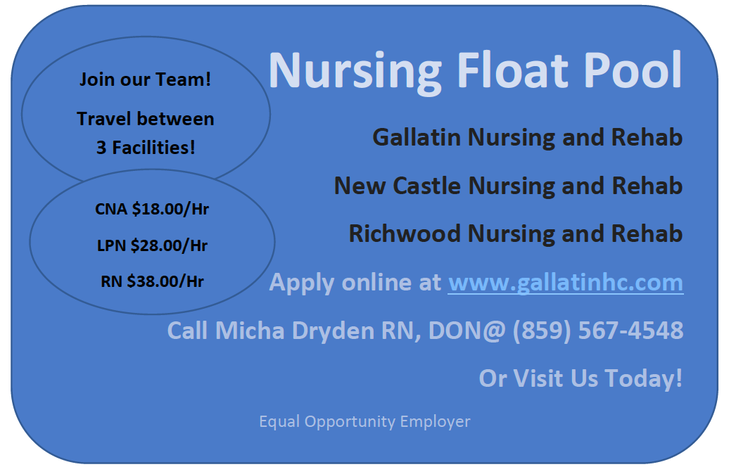 Nursing Float Pool - Travel between 3 facilities and receive a great hourly rate. Apply Today.