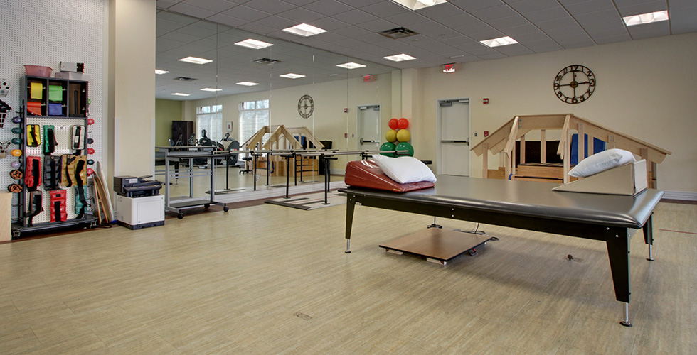 Rehabilitation therapy room at Valhalla Post Acute