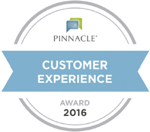 Pinnacle customer experience award 2016