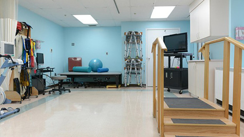 Well equipped exercise room