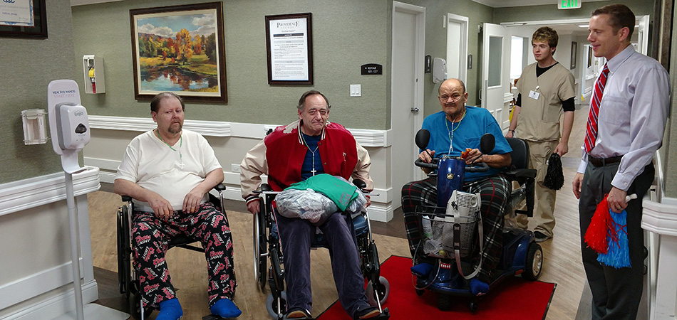 "3 residents getting the ""red carpet"" successful discharge"