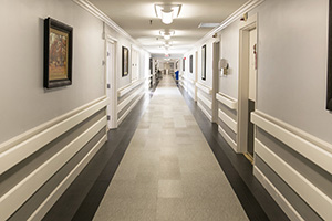 Resident hallway with clean floors
