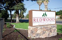 redwood springs healthcare sign