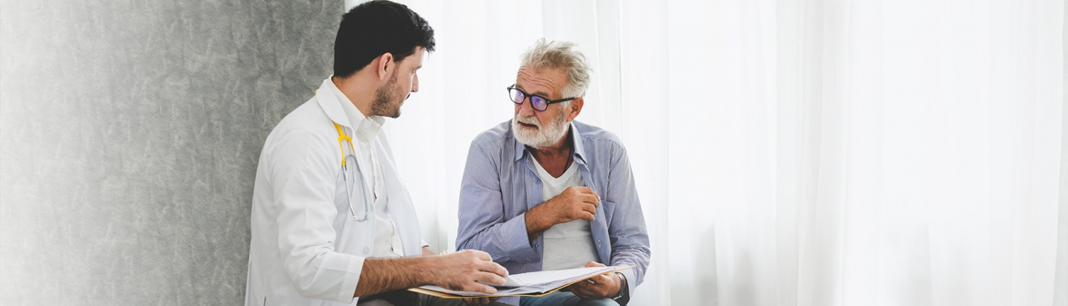 Doctor and patient discussing a care plan