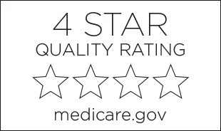 4 Star quality rating by medicare.gov