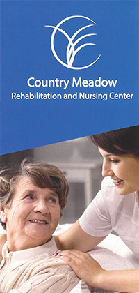 Country Meadow Rehabilitation and Nursing Center brochure cover
