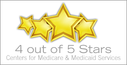 4 our of 5 stars Medicare rating