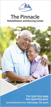 The Pinnacle Rehabilitation and Nursing Center brochure cover.